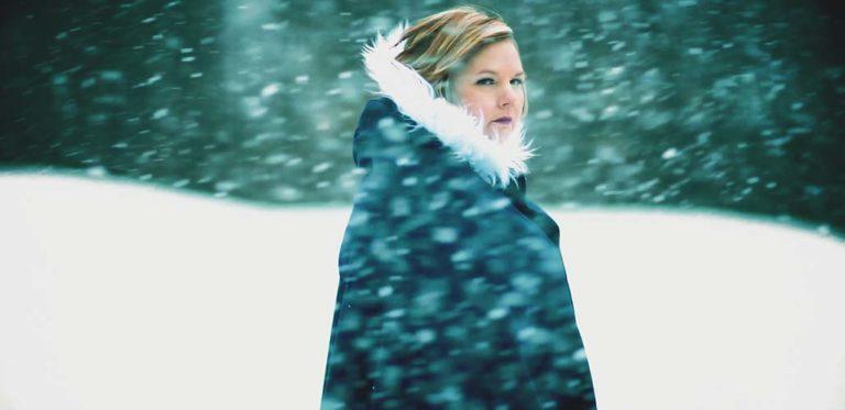 Francine Honey Snowflakes video filming
